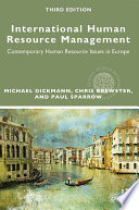 International Human Resource Management  : Contemporary HR Issues in Europe