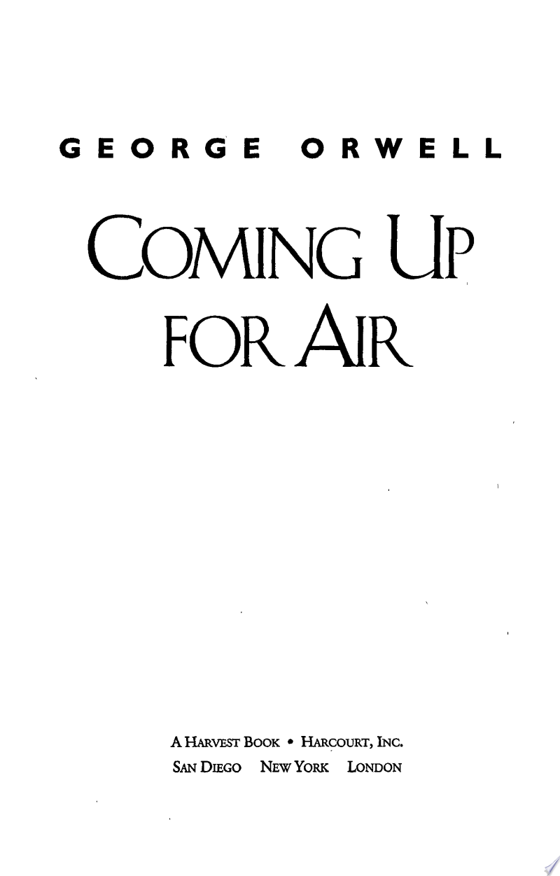 Coming Up for Air banner backdrop