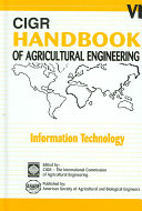 Cigr Handbook Of Agricultural Engineering Information Technology Book PDF