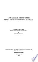 Atmospheric emission from nitric acid manufacturing processes; cooperative study