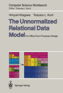 Pdf The Unnormalized Relational Data Model