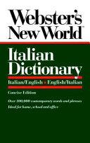 Pdf Webster's New World Italian Dictionary