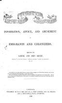 Sidney s Emigrant s Journal