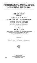 First Supplemental National Defense Appropriation Bill for 1943