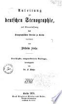 Theoretisch-praktisches Lehrbuch der deutschen Stenographie für höhere Schulen und zum Selbstunterricht