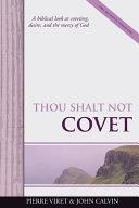 Thou Shalt Not Covet