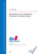 Spezifikation von intelligenten Produkten im Maschinenbau