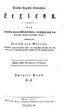 Deutsch-Ungrisch-Lateinisches Lexicon ... Zweyter Band. K - Z