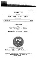 Facilities at the University of Texas for the Study of Latin America