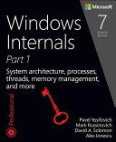 Windows internals. Book 1, User mode.