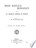 Miss Bayle s Romance Book