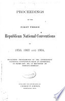 Proceedings of the     Republican National Conventions Book