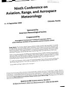 Conference on Aviation  Range  and Aerospace Meteorology