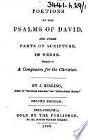 Portions Of The Psalms Of David And Other Parts Of Scripture In Verse By J Rusling Second Edition With A Portrait