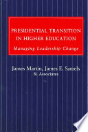 Presidential Transition In Higher Education