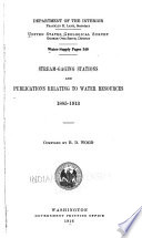 Stream-gaging Stations and Publications Relating to Water Resources, 1885-1913