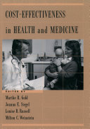 Cost-Effectiveness in Health and Medicine Pdf/ePub eBook