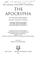 The Apocrypha of the Old Testament Book PDF