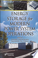 Energy Storage for Modern Power System Operations