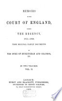 Memoirs of the Court of England During the Regency  1811 1820