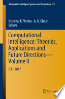Computational Intelligence: Theories, Applications and Future Directions - Volume II