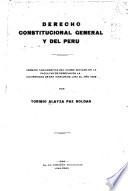 Derecho constitucional general y del Perú