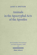 Animals in the Apocryphal Acts of the Apostles