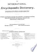 The International Encyclopaedic Dictionary     Book PDF