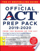 The Official ACT Prep Pack 2019 2020 with 7 Full Practice Tests   5 in Official ACT Prep Guide   2 Online