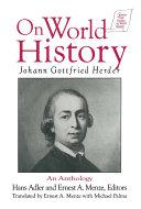 Pdf Johann Gottfried Herder on World History: An Anthology Telecharger