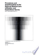 National Medical Care Utilization and Expenditure Survey