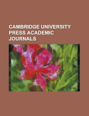 Cambridge University Press Academic Journals