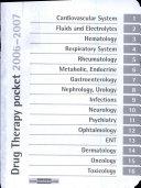 Drug Therapy Pocket 2006-2007