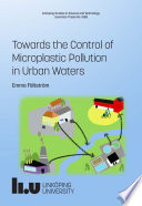 Towards the Control of Microplastic Pollution in Urban Waters