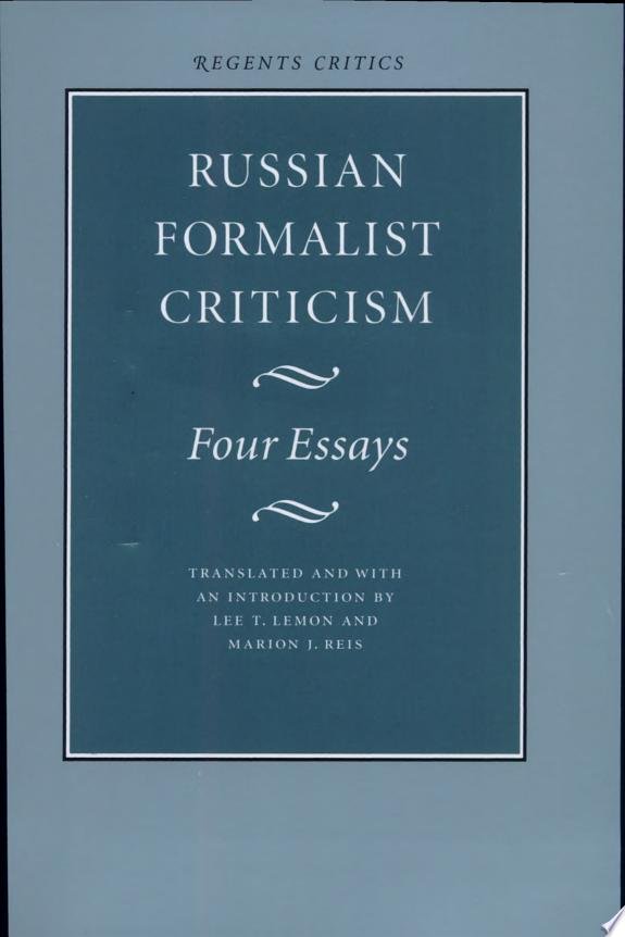 Russian Formalist Criticism