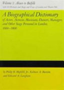 A Biographical Dictionary of Actors, Actresses, Musicians, ...