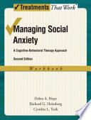 Managing Social Anxiety Book