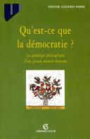 Pdf Qu'est-ce que la démocratie? Telecharger