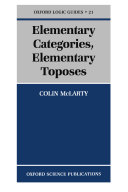 Elementary Categories, Elementary Toposes
