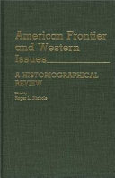 American Frontier and Western Issues