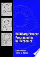 Boundary Element Programming in Mechanics Book