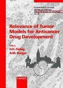 Relevance of Tumor Models for Anticancer Drug Development