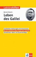 Klett Lekt  rehilfen Bertolt Brecht   Das Leben Des Galilei