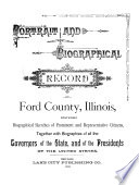 Portrait and Biographical Record of Ford County  Illinois