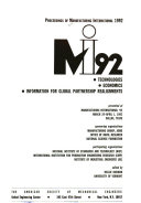 MI92  technologies  Economics  Information for Global Partnership Realignments