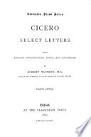 Cicero; select letters