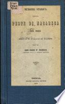 Memoria storica sulla peste di Macarsca del 1815