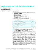 Traitemetn de L'air et Climatisaction ebook