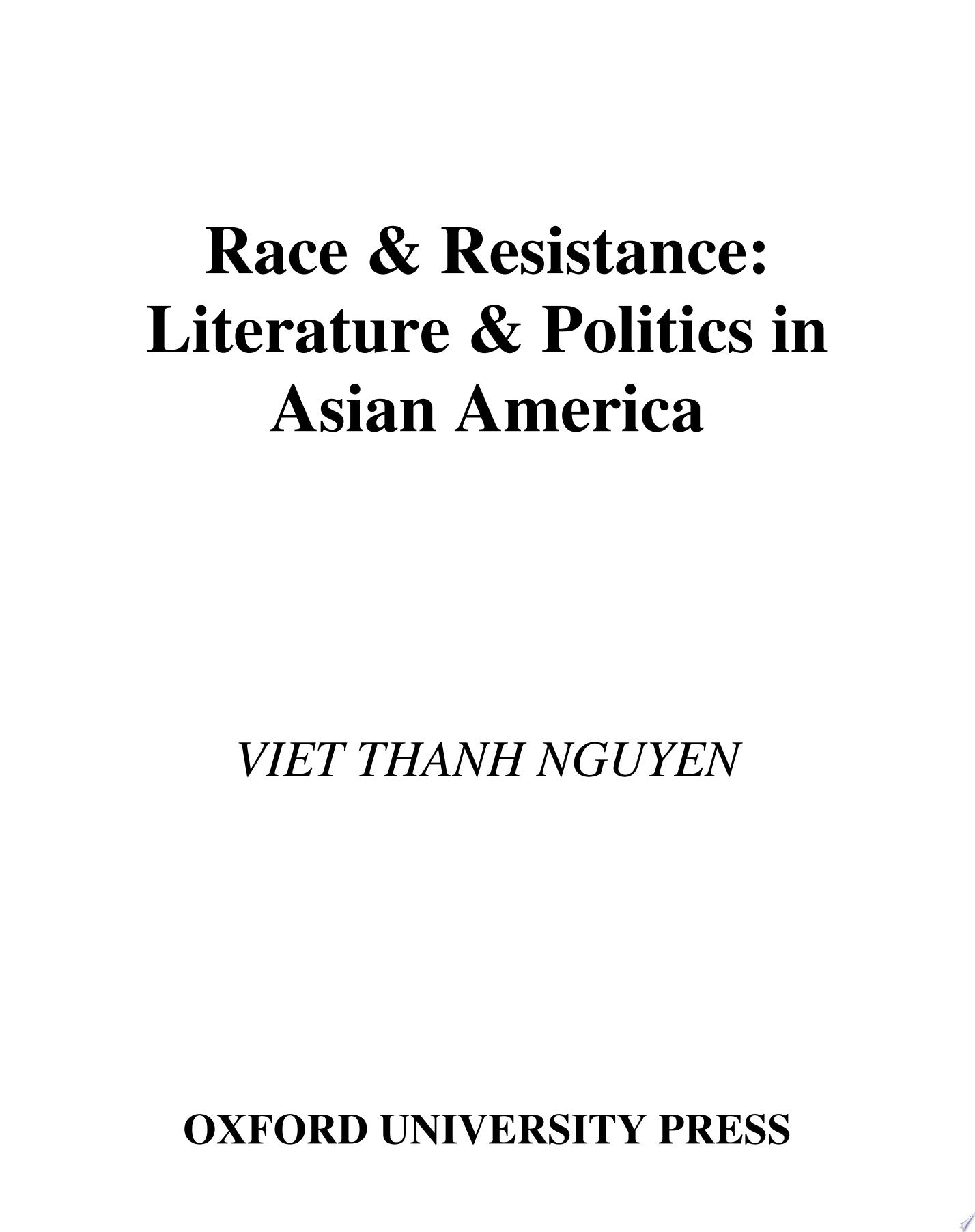 Race   Resistance