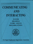 Communicating and Interacting with People Who Have Disabilities